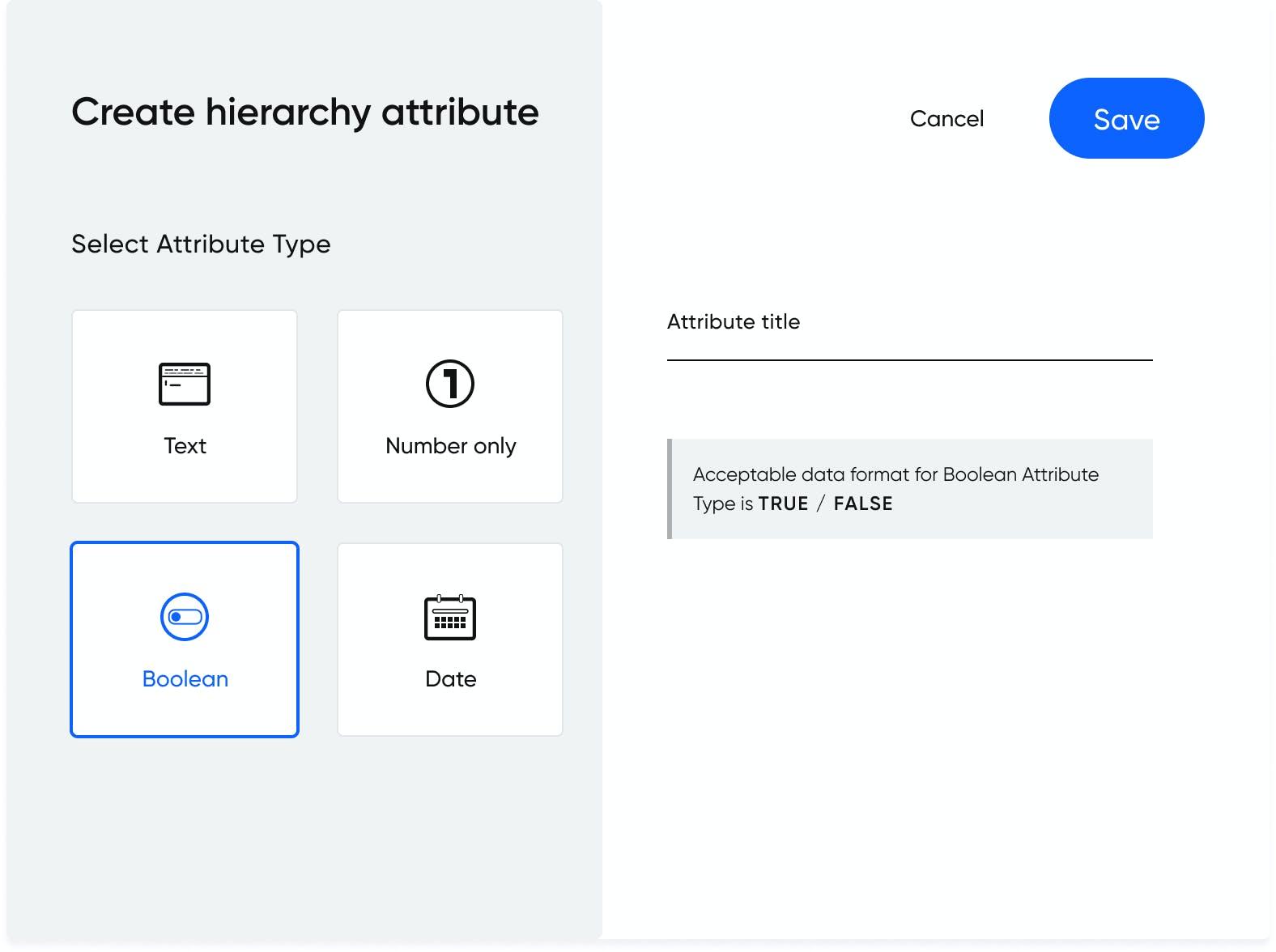 Hierarchy attributes